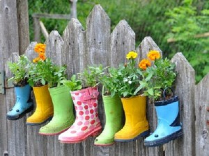 Rain boot pots