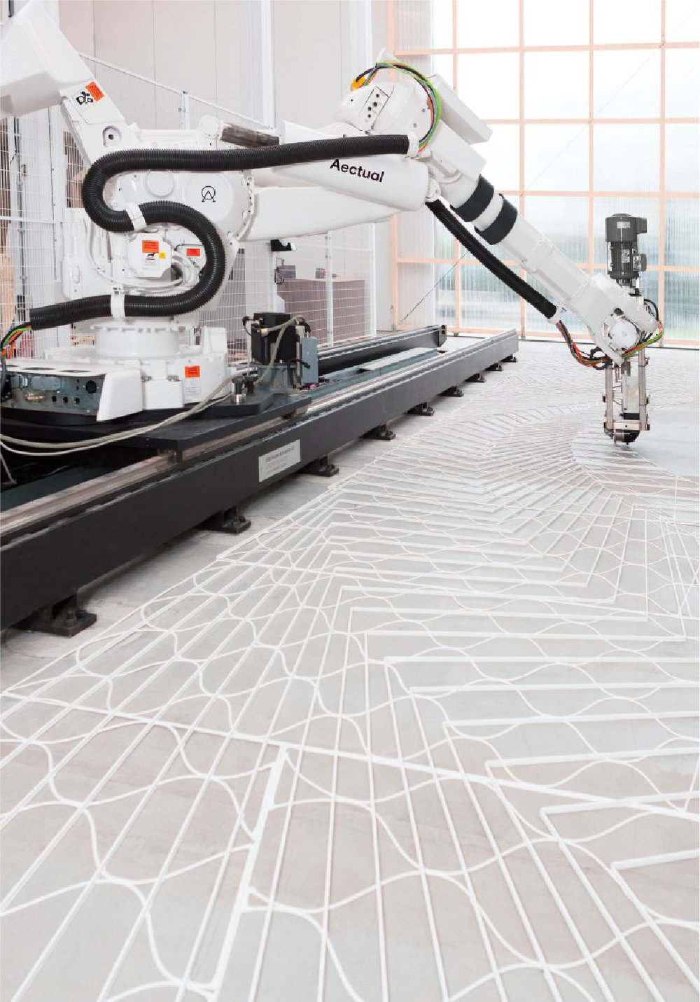 3D printed flooring system with terrazzo infill, providing total customisation