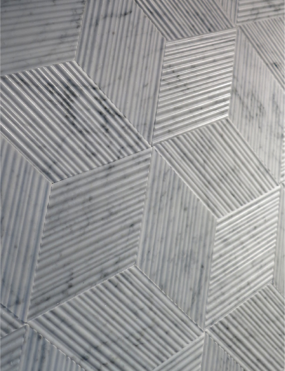Dynamic tessellation of Carrara marble tiles