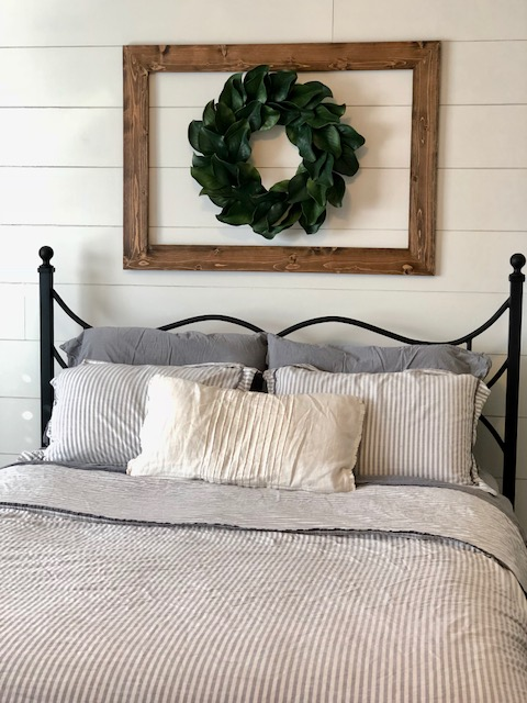 Shiplap, Master Bedroom, DIY, Farmhouse