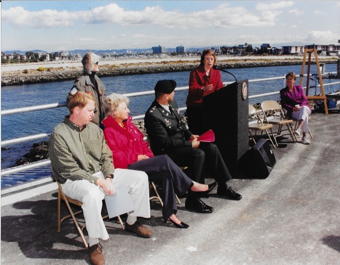 Dedication of the new tide gates, 2004
