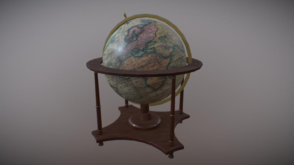Low Poly Nautical Globe