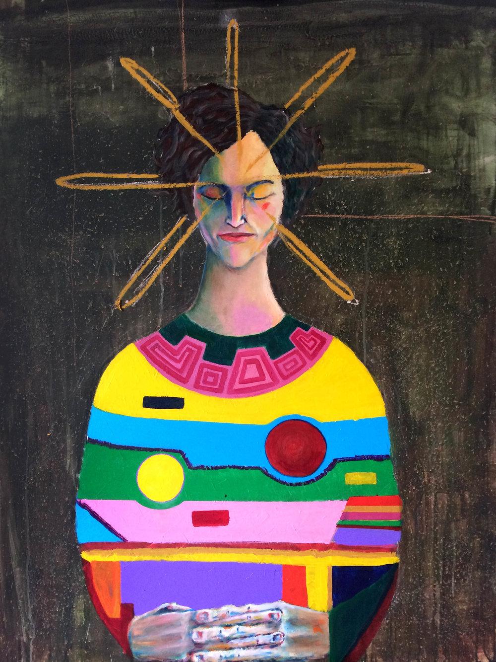 """SILENCIO 2016   Acrylic and oil on wood panel  36"""" x 47"""""""