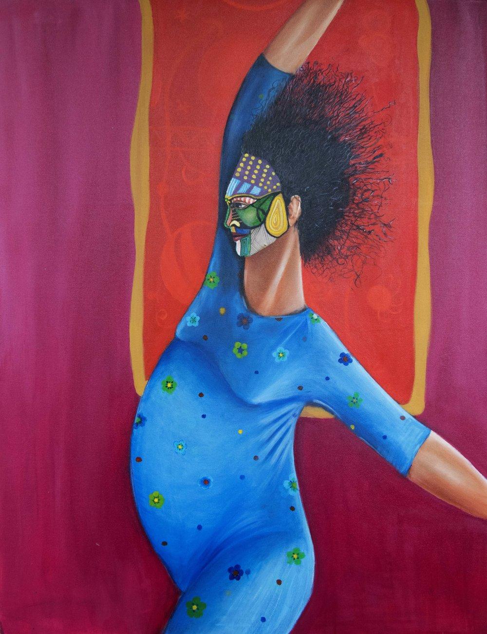 """BALANCE 2015   Acrylic on canvas  36"""" x 49"""