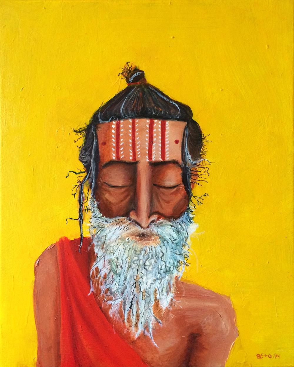 "VARANASI 2014   Acrylic on canvas  16"" x 20"""