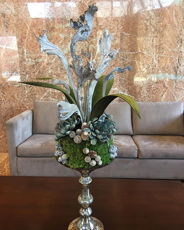 Winter Lobby Display #tablescapes #floral displays #botanico