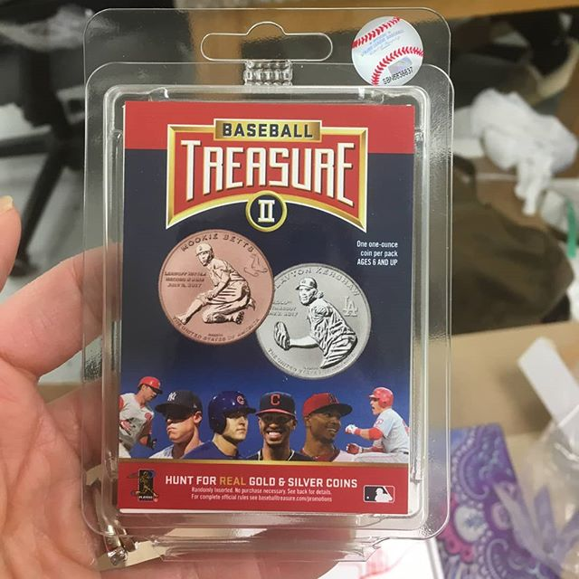 Baseball Treasure II.  Packs arrive in tamper evident clamshells to protect the integrity of the coin, its holder and deter the unscrupulous. #collect #thehobby #jointhehunt #mlb #mlbpa #baseball #coins #baseballcards