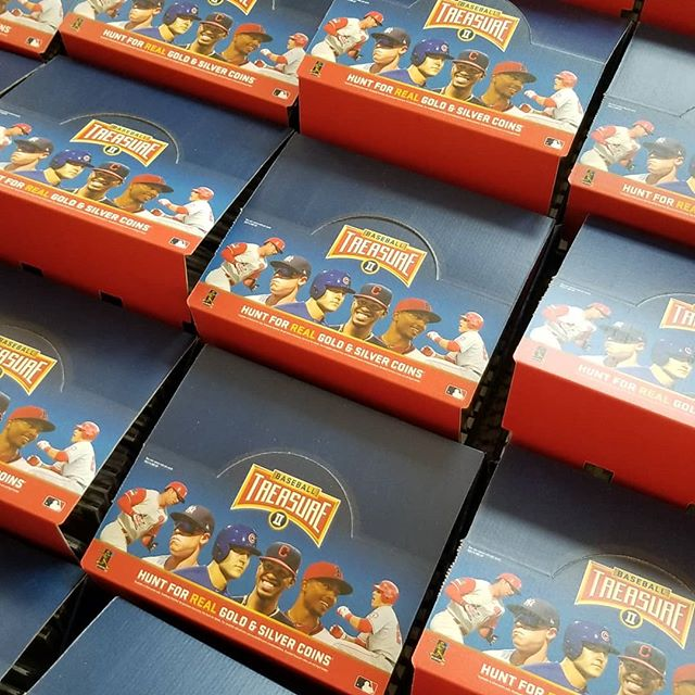 A whole lot of open pack assortments on their way to local 7 elevens.  #jointhehunt #baseballtreasure #coins #collect #thehobby #baseballcards #baseball #hitcoins
