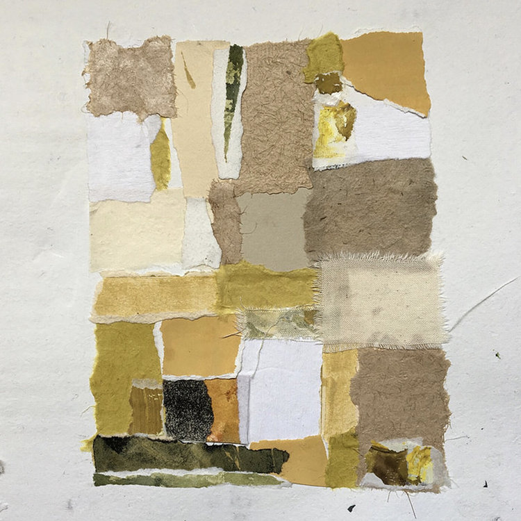 """2016: 8"""" x 11"""", Various papers, canvas watercolor on artist's handmade paper"""