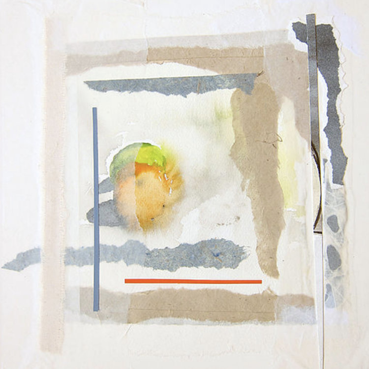 """Untitled 22:    2013, 14"""" x 19"""", watercolor painting with original mixed media added on Arches watercolor paper"""