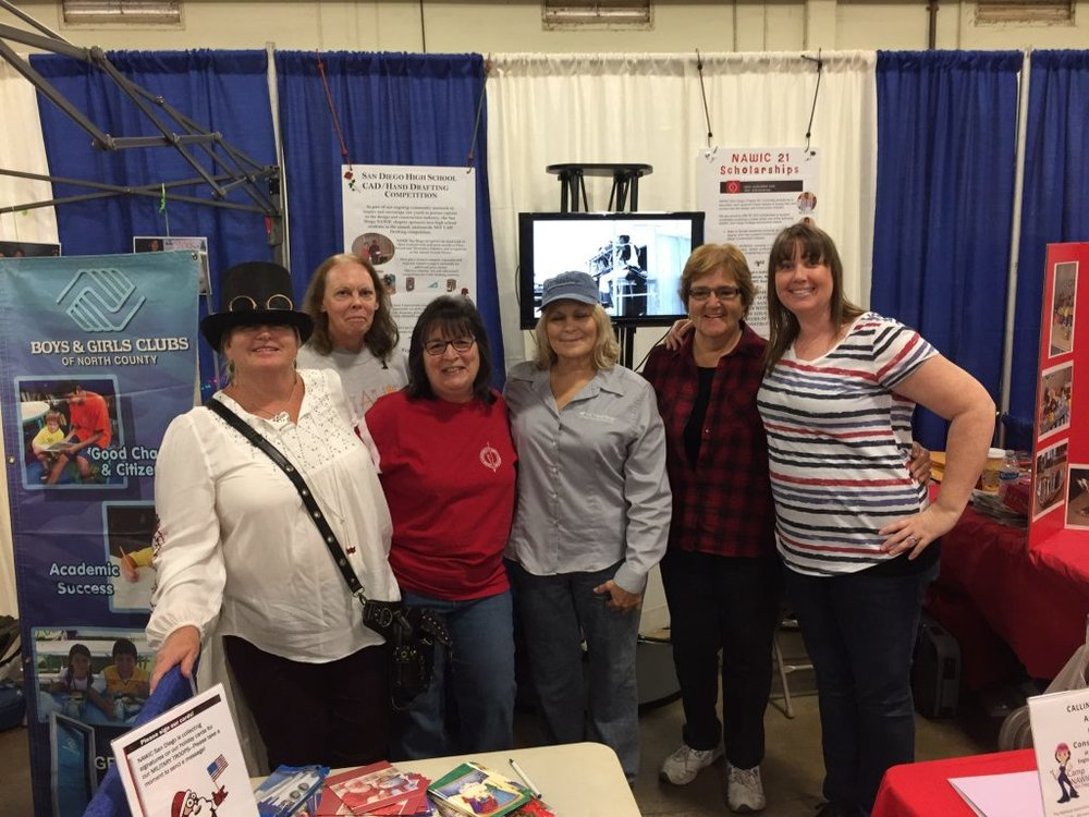 (L to R) Teran Breceda, Jan Parthemer, Anita Villani Barnes, Rhonda Mitchell, Linda Young, and Shannon Carner at the 2016 STEAM Maker Festival.