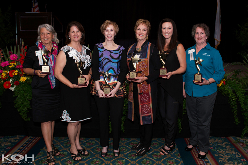 (L to R) 2015 WILL Award recipients Catt Fields White, Theresa Kemper, Sherry Yarbrough, Alison Cummings, Dana Rivers, Jill Meyers. Not shown Marlee Ehrenfeld.