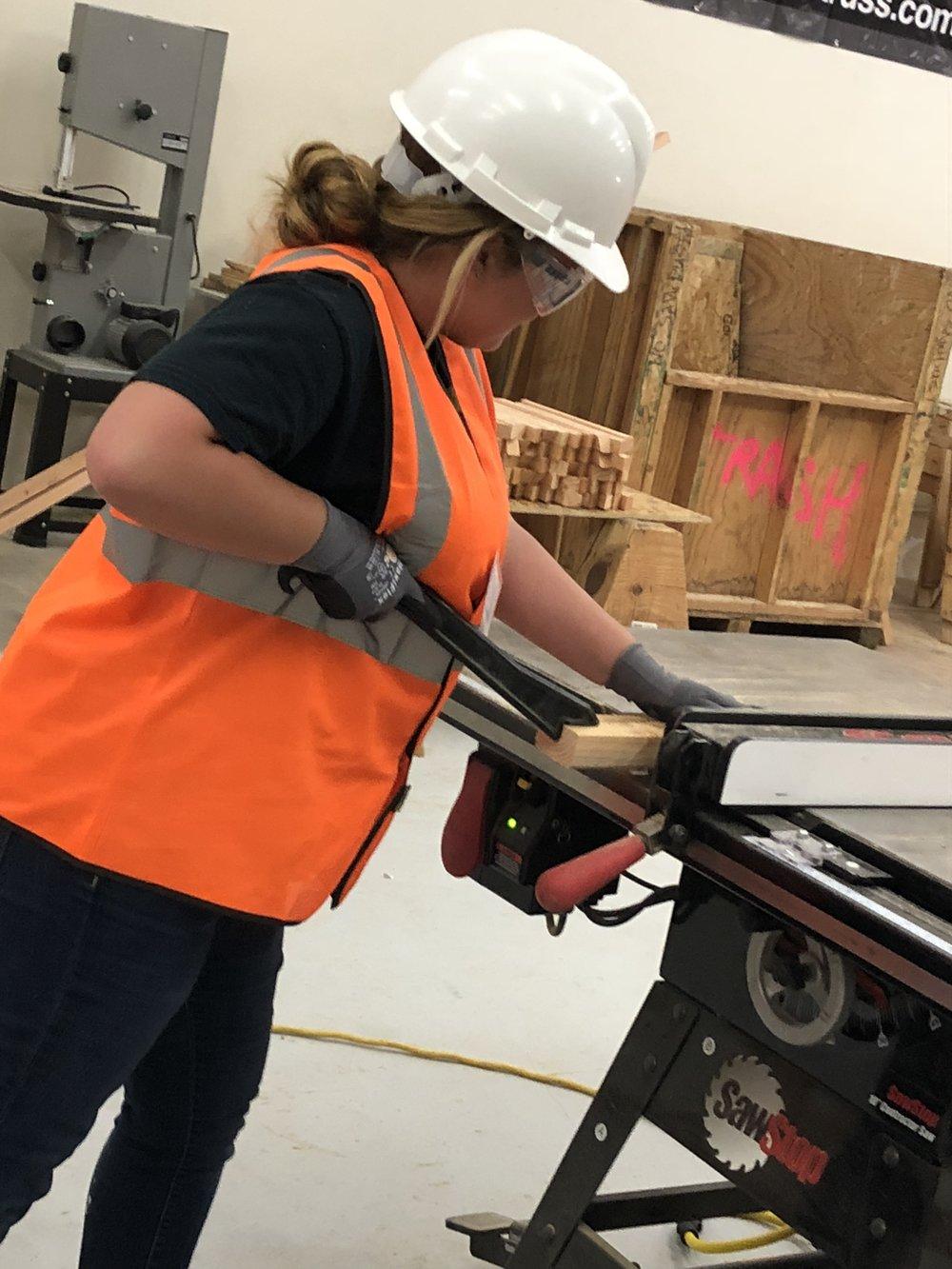 Journeywoman using table saw.JPEG