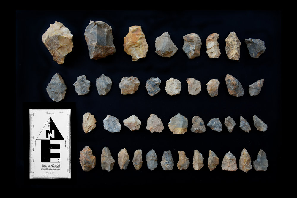 Copy of Middle Palaeolithic cores and flake tools