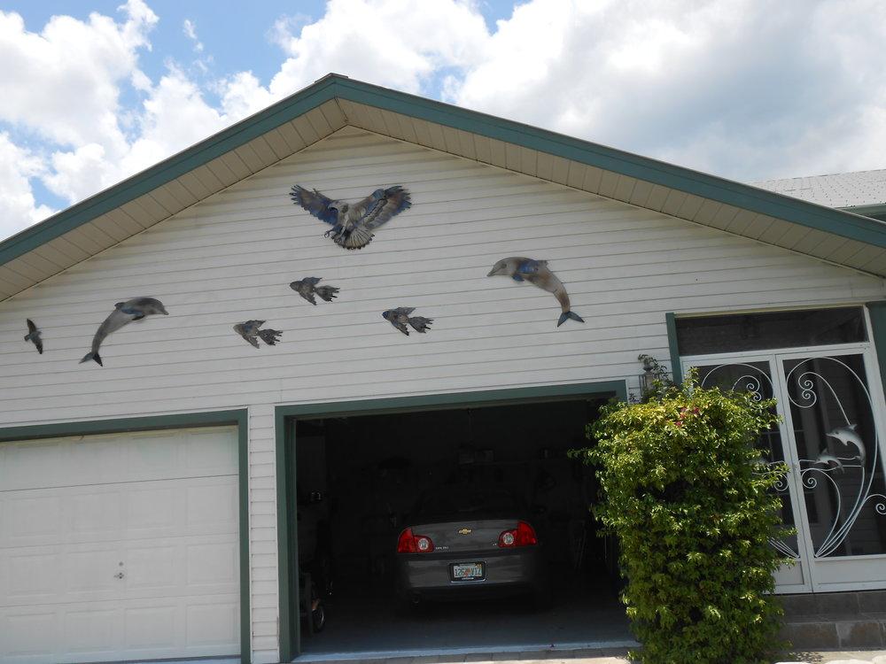 15A EAGLE SCENE ON GARAGE.JPG