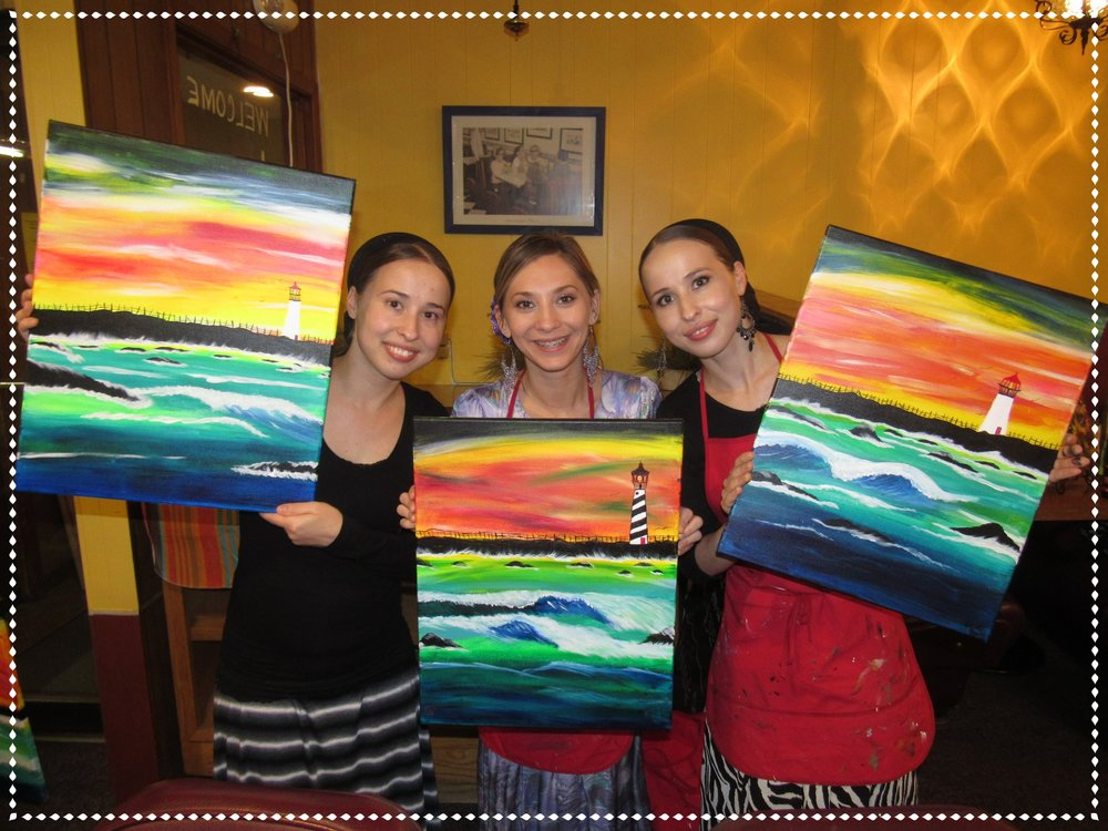 Birthday PaintnParty, Towne House Cafe, Silverton