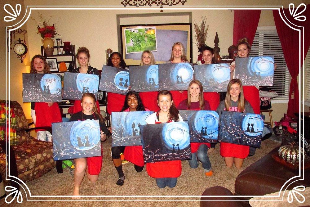 Teen Birthday PaintnParty, Salem