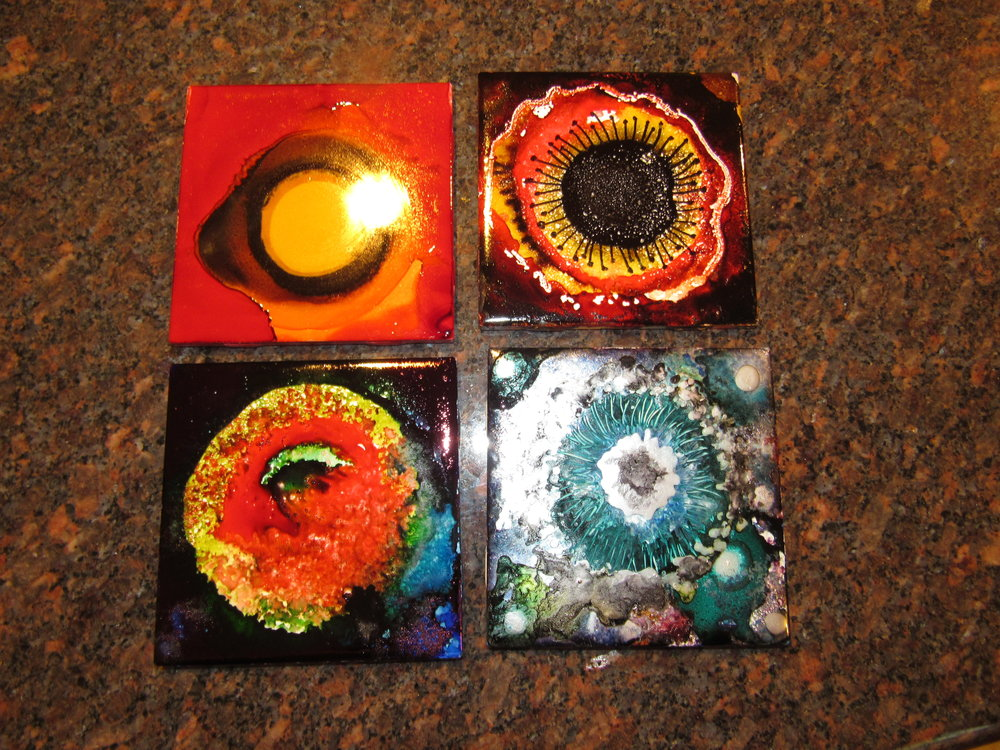 4x4 Coasters $15 Ea.