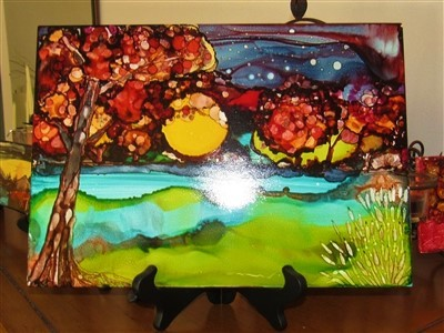 9x12 Autumn Moon $35