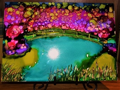 9x12 Monet's Giverny $35