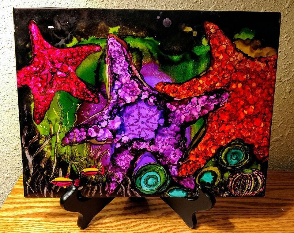 9x12 Starfish $35