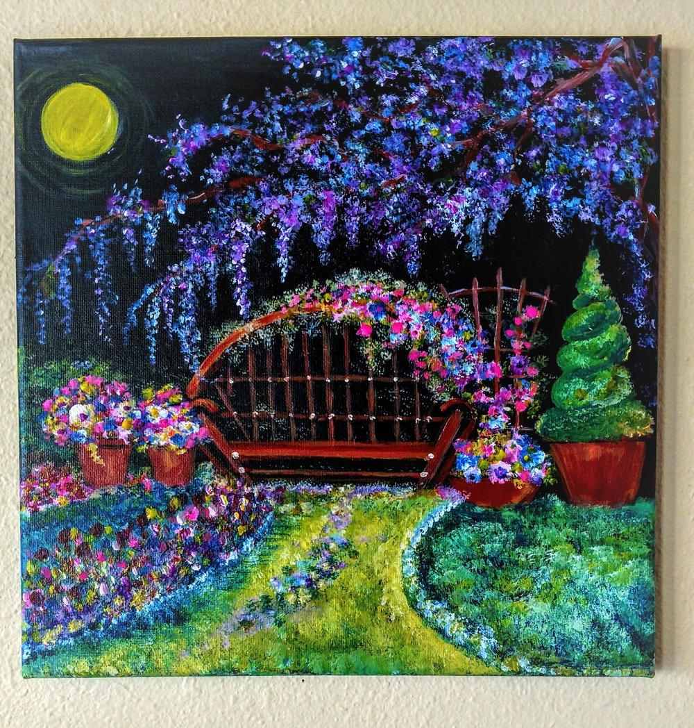 Wisteria Garden $35