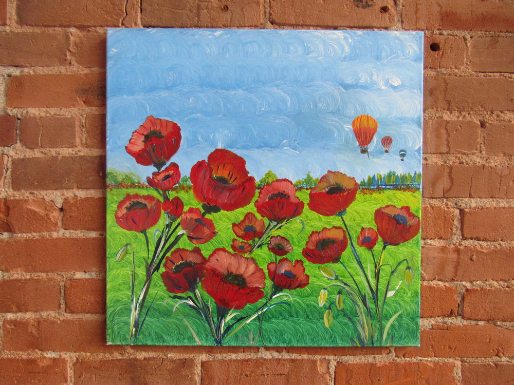 $40 Popping Poppies-Hot Air Balloons