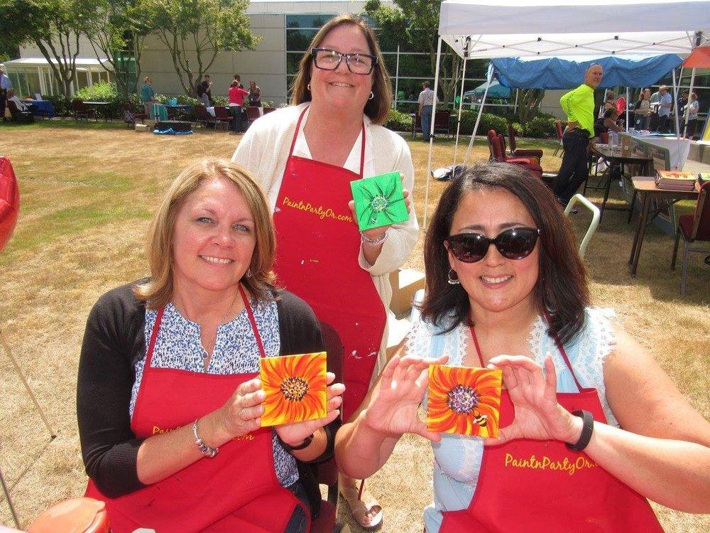 mini 6x6 oregon lottery employee health day - corporate events