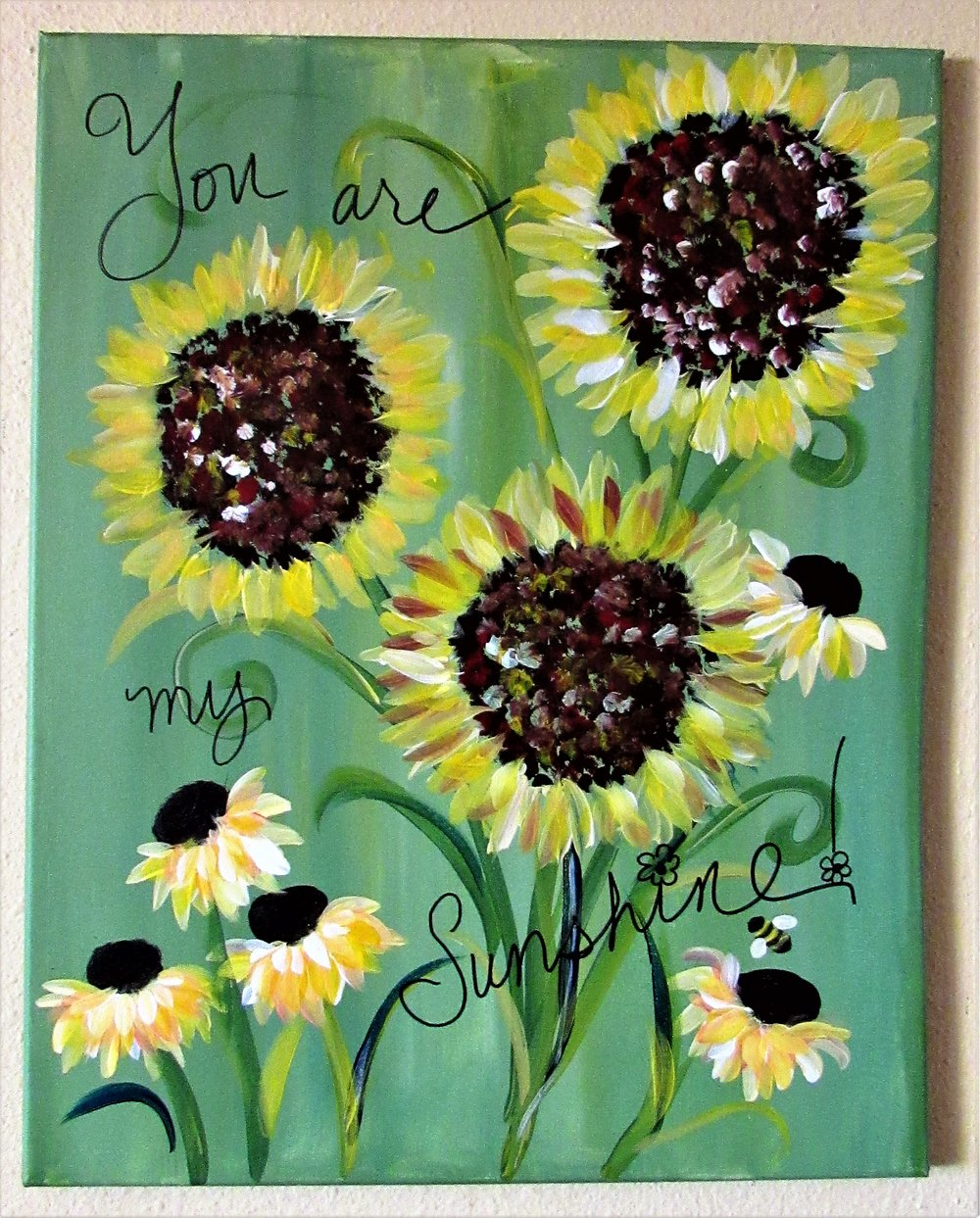$40 You are My Sunshine w/3D Butterflies