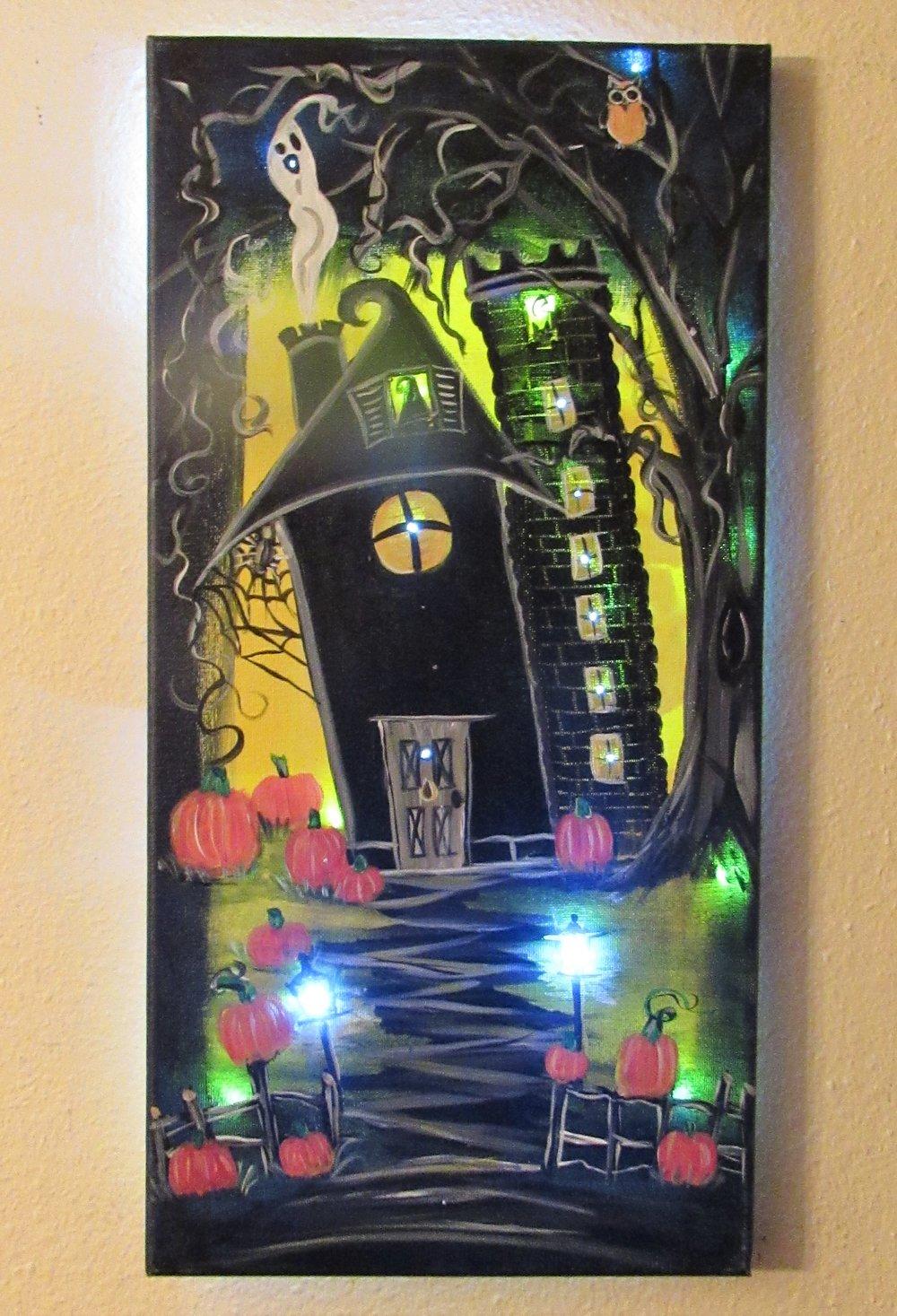 $40 Spooky Street Lit Up