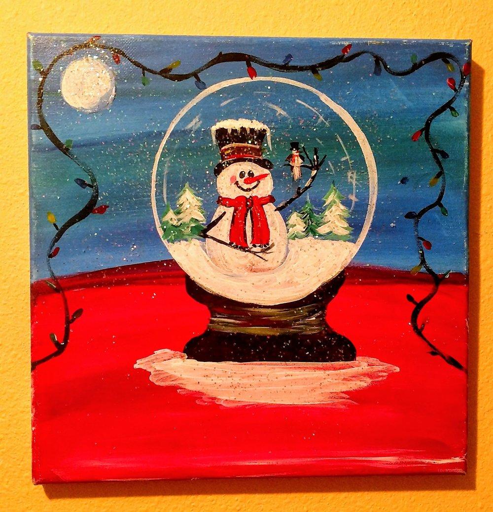 $35 Snow Globe Snowman