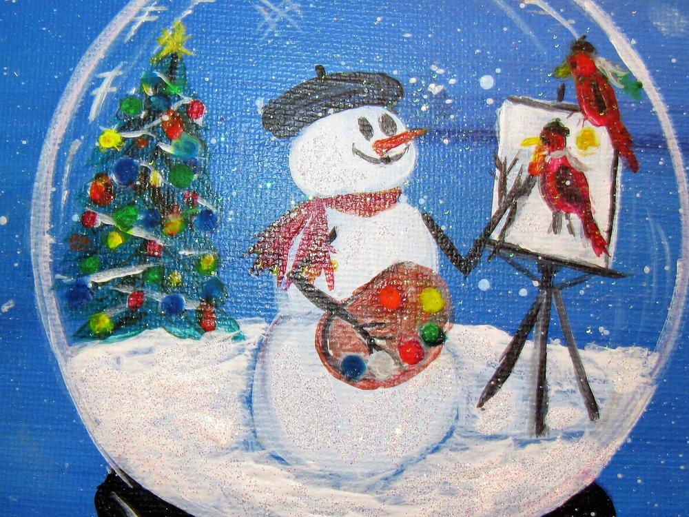 $35 Snow Globe Artist Zoom