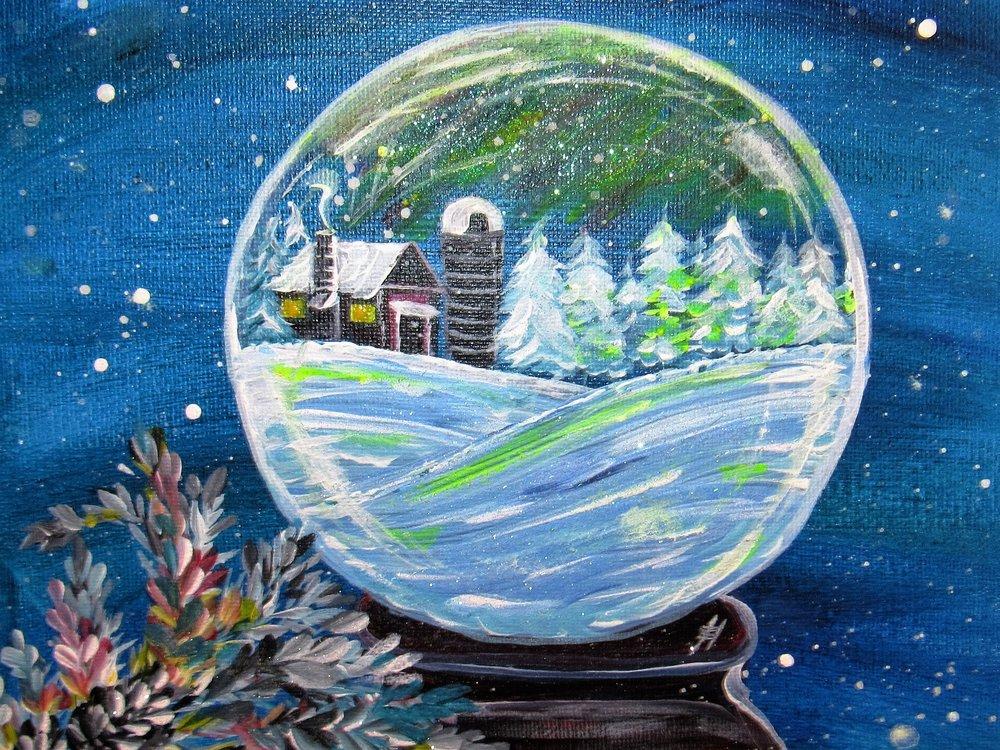$35 Snow Globe Cabin