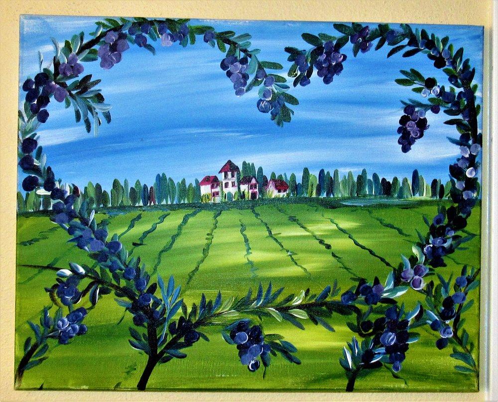 $40 Tuscany Farm Heart
