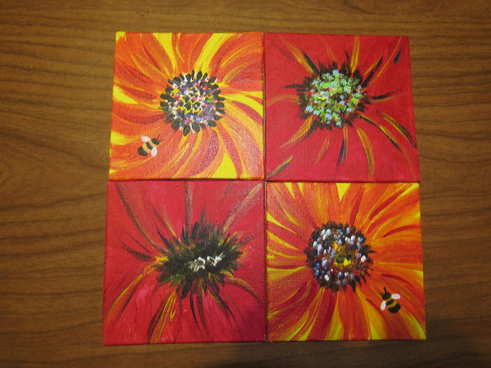 6x6  Busy Bees $10