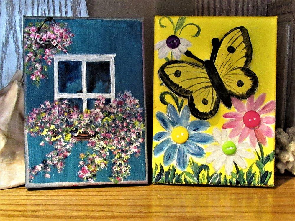 5x7 Window 3D Butterfly $15