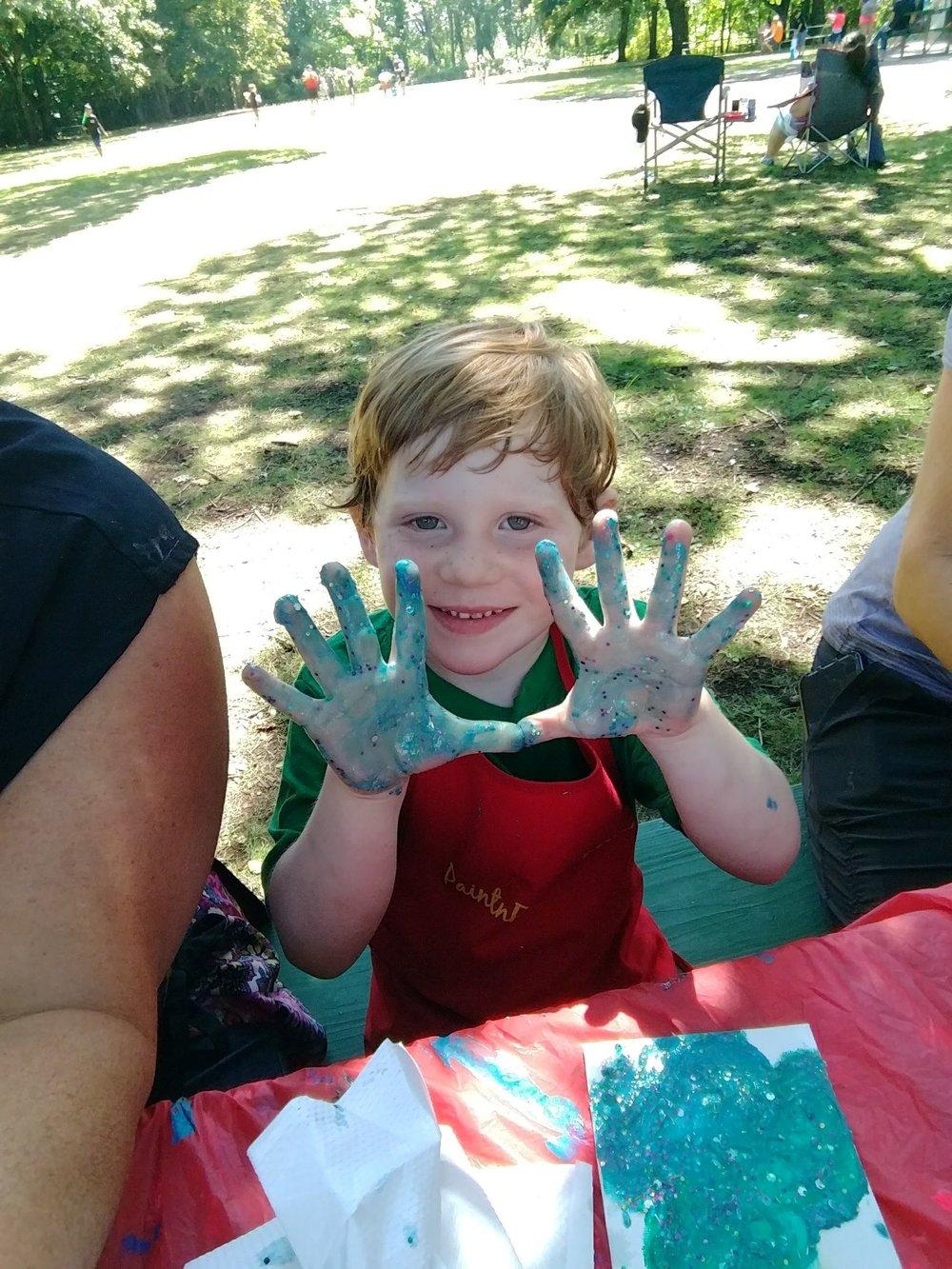 Finger paints & Glitterflies
