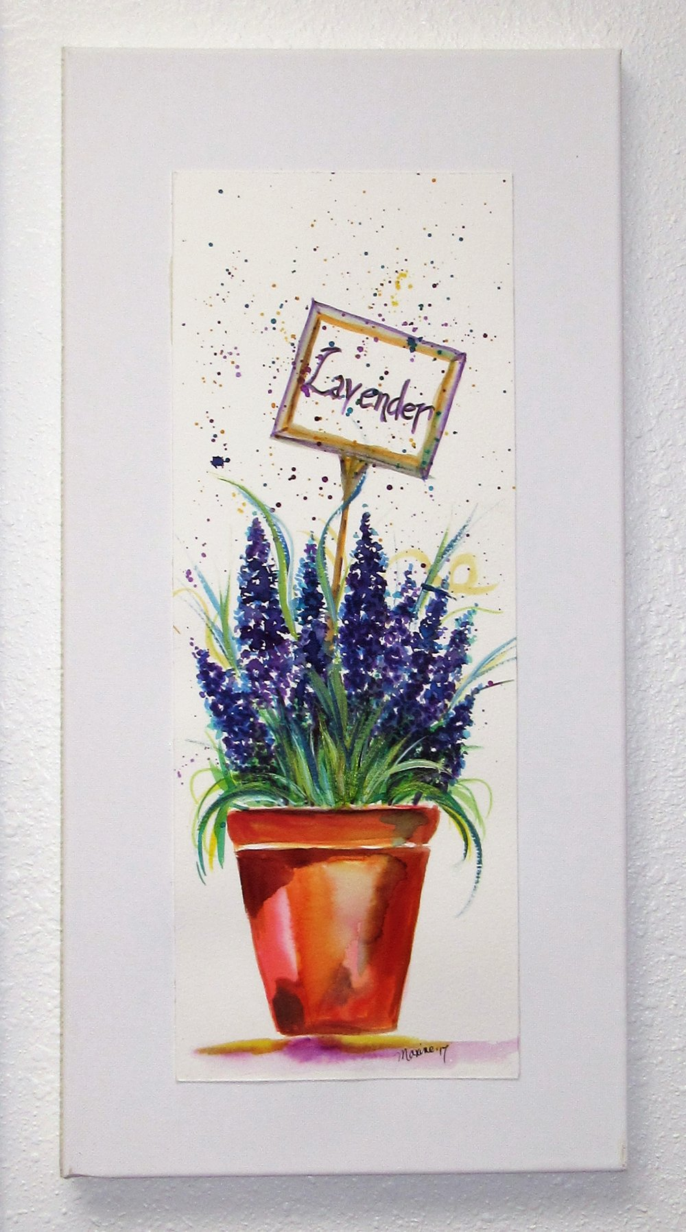 WATER COLOR WORKSHOPS - PAINT ON WATER COLOR PAPER AND ADHERE TO A CANVAS FOR EASY WALL DISPLAY