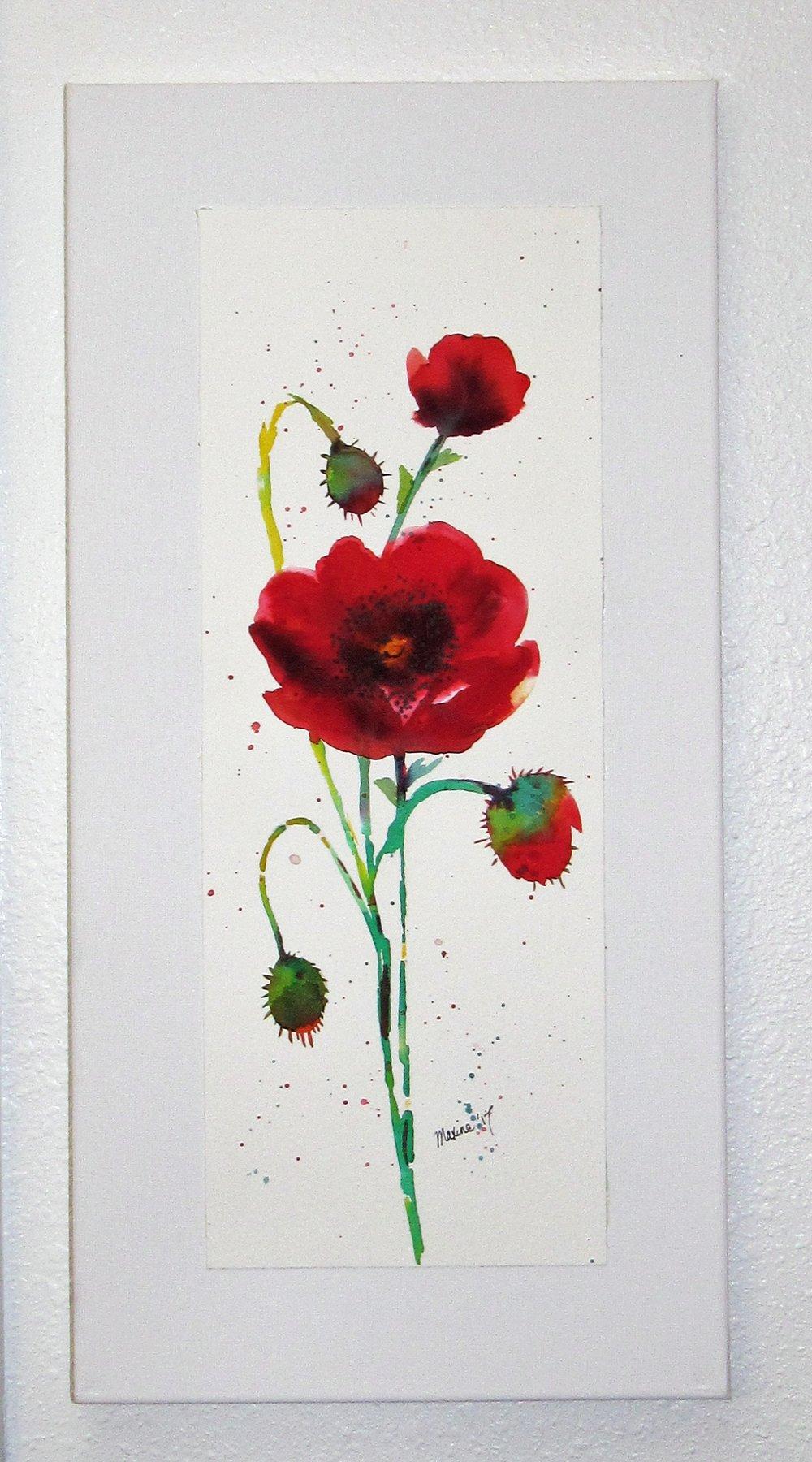 $35 Poppies 10x20