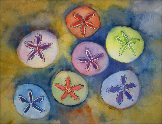 $40 Sand Dollars on Water Color Paper