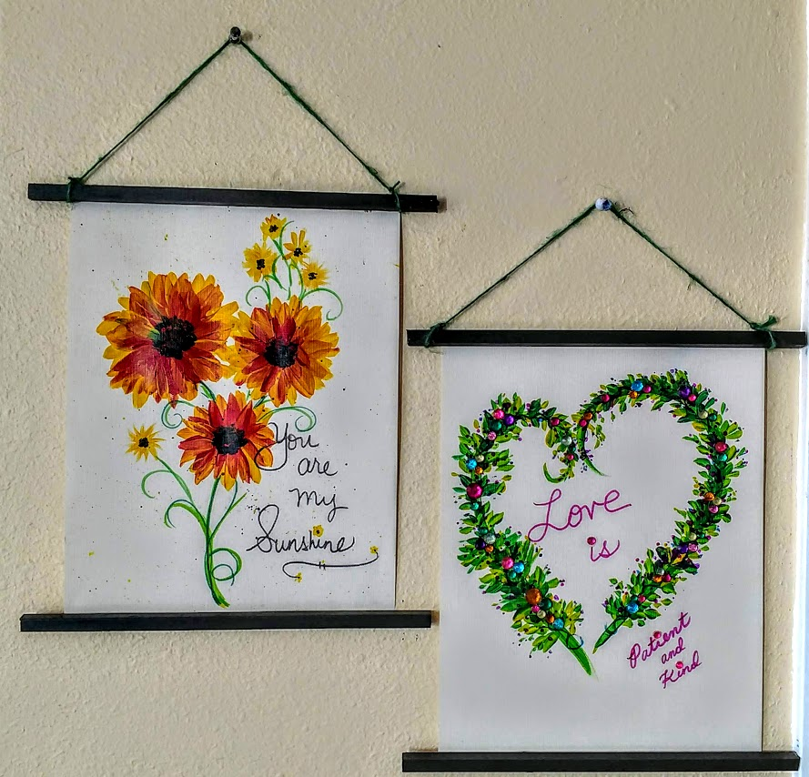 """9""""X12"""" PAINTED SCROLLS PAINTING PARTY $35 - CREATE YOUR OWN IDEAS!"""