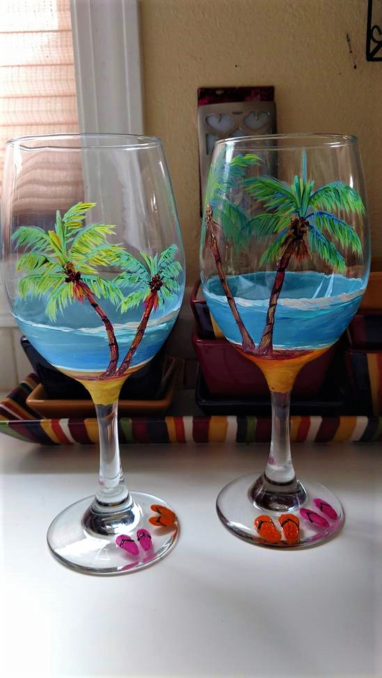 "- ""KOKOMO"" TALL WINE GLASSES 2/$40"