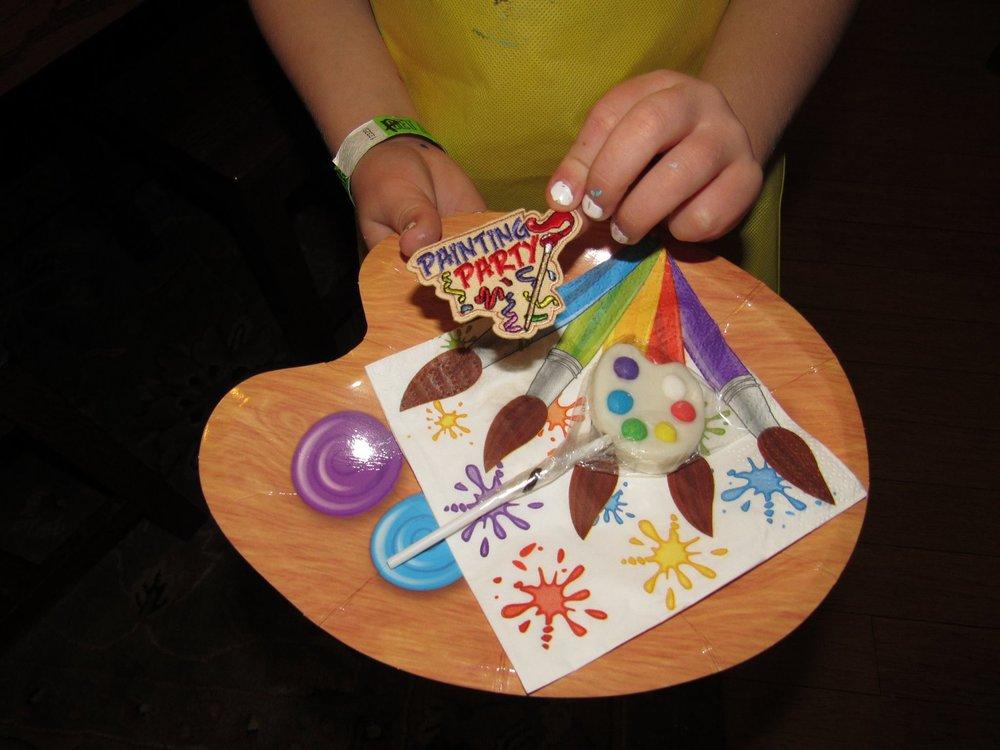 brownie's earned their painting badge! -
