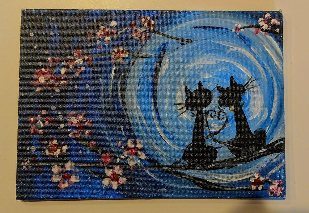 5x7 Moon Cats