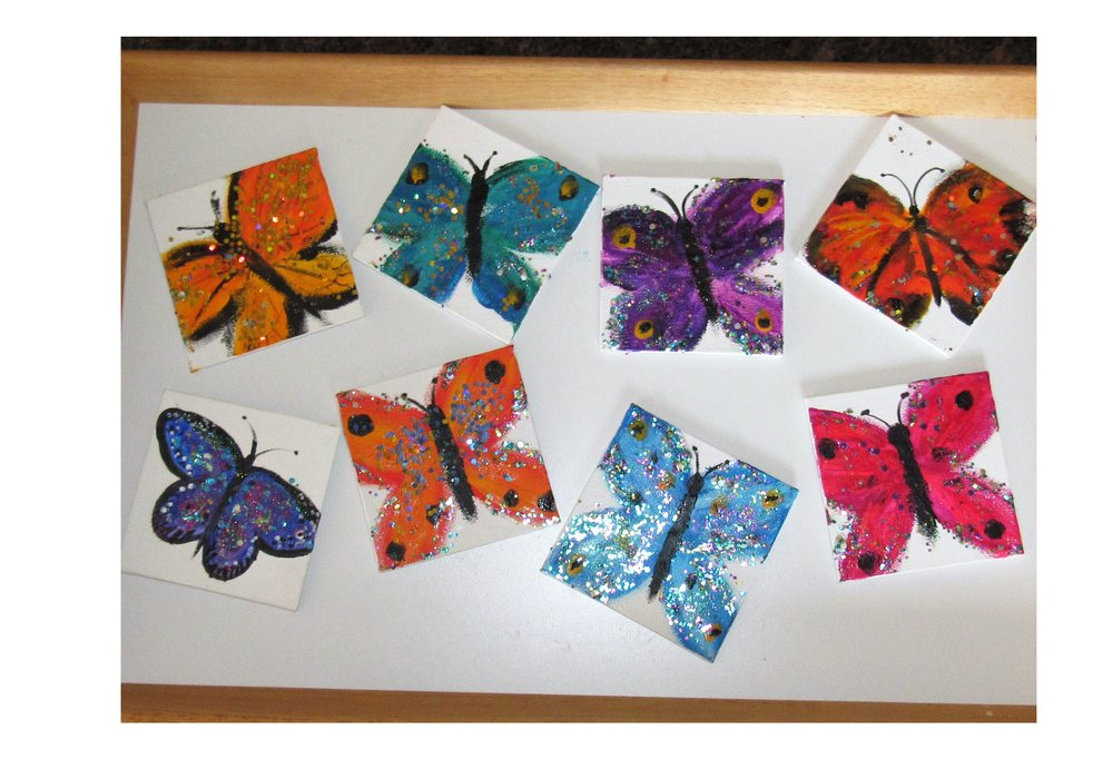 2/4x4 Glitterflies Finger Paints