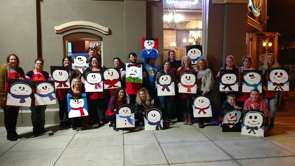 """Feelin' Frosty"" holiday paintnParty! - brew coffee tap house, independence"