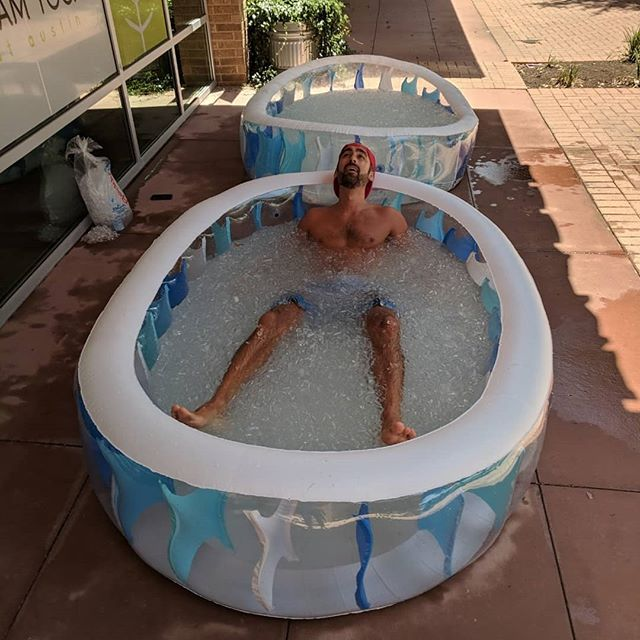 Been toying with the idea of doing Wim Hof ice baths and cold exposure (check out his Vice documentary on Youtube) and finally decided to take the plunge.  The breathwork before the ice bath prepared me to breath into the shockingly cold and painful ice water.  My fight or flight response kicked in immediately and I wanted to jump out as fast as I got into the ice bath (about 38 degrees F)... Once I sat with the extreme cold and controlled my breath, I easily relaxed and the 2 minutes in the ice bath flew by.  The benefits of cold exposure are: - white (bad) fat loss - increase in brown (good) fat - decreases inflammation - strengthens the nervous system - speeds up healing from injuries - helps regulate blood sugar levels - increases will power!  I have been doing daily cold plunges in the pool (about 55 degrees F) or cold showers in the morning. I have seen a big uptick in my general happiness and mood in the morning whenever I do cold exposure.