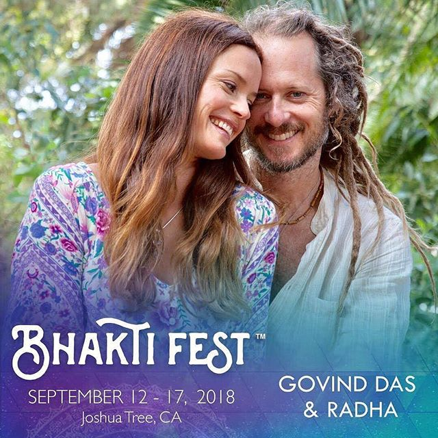 2 weeks after Burning Man, we drove to Joshua Tree, California and went to @BhaktiFest.  I went into it with no expectations simply thinking that it would a fun weekend of yoga and music.  The first thing that we attended was a Kirtan/Yoga class put on by @govind.das.108 & @jacquelineradharosen from @bhaktiyogashala.  It was easily one of the most fun, energetic and spiritual yoga classes that I have ever done.  It incorporated dancing, deep yoga stretches, singing and a powerful performance by @jacquelineradharosen (look her up on Spotify). After that I was open and excited for whatever came (which was deep connection and lots of love)! We did couples workshops, a 250 person breathwork session, yoga, dancing, singing, and lots of delicious food.  Bhakti yoga is classically defined as the path of devotion, and it's often referred to as the yoga of love.  Essentially, bhakti yoga is the cultivation of unconditional spiritual love.  In the act of giving love, you receive it. The bhakti remedy for when you're suffering a broken heart, in other words, is to fill in the cracks with a love that is more permanent and transcendent.  I didn't take any photos thus the Bhaktifest poster photo.