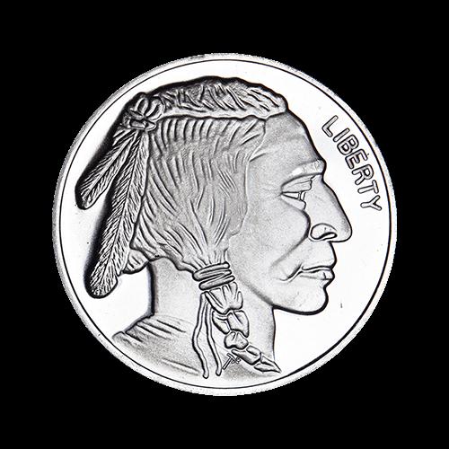 1 Ounce Buffalo Design Silver Round