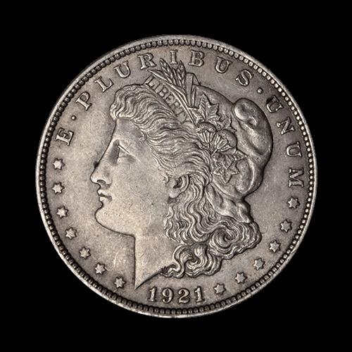 1921 American Morgan Dollar Silver Coin